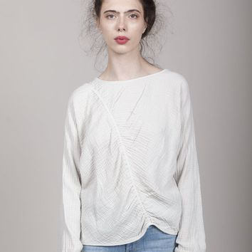 Raquel Allegra Cinch Sweatshirt - Dirty White on Garmentory