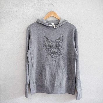 Calum the Cairn Terrier  - Grey French Terry Hooded Sweatshirt