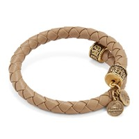 Sand Braided Leather Wrap