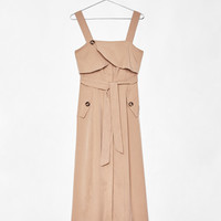 Flowing midi dress - CLOTHING - Bershka United Kingdom