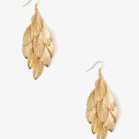 Dotted Feather Earrings
