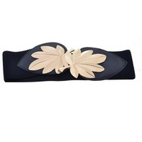 Metal Leaf Embellished Waist Belt