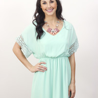 Crochet Mint Dress » Vertage Clothing
