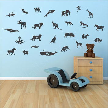 Nursery wall decals - Animal Alphabet