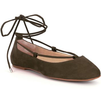 Gianni Bini Annessa Lace-Up Ballet Flats | Dillards