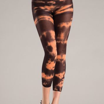 Be Wicked Orange Tie Dye Footless Pantyhose