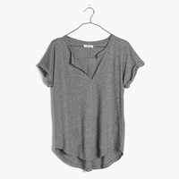 TURNTABLE SPLIT-NECK TEE