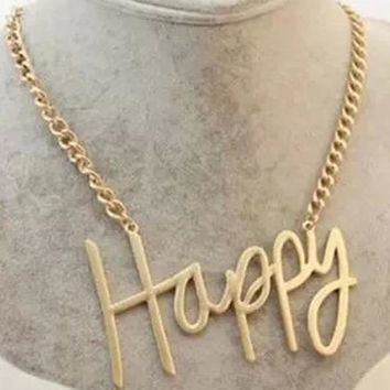 2018 Best Gift Fashion Happy Boss Love cool sexy Letter choker Necklaces Women Jewelry DIY Monogram Necklace