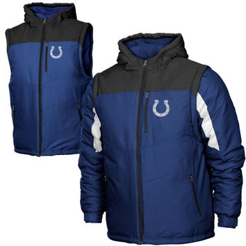 Women's Indianapolis Colts Majestic Royal Win Big Full Zip Hoodie