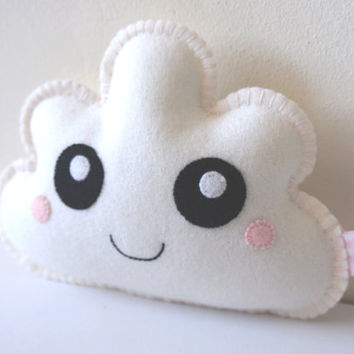 White Kawaii Cloud, Soft Cloud, Cloud Softie, Nursery Gift, Nursery Decor, New Baby, Shower Gift, Baby Shower Gift, Gift Baby