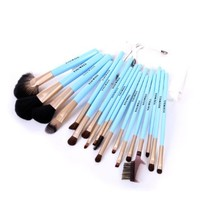 18 Pcs Professional Makeup Comestic Brushes Set Kit with Quilted Pouch