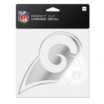 Los Angeles Rams Decal 6x6 Perfect Cut Chrome
