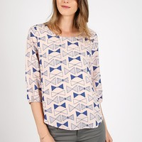 Forget Me Knot Printed Blouse | Ruche