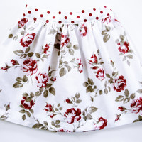 Baby girl skirt 9 to 12 months infant pink floral skirt first birthday rose floral baby skirt girls skirt