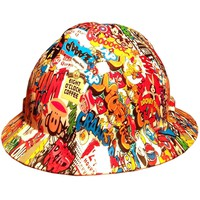 Hydrographic Stickerbomb MSA V-Guard Full Brim Hard Hat