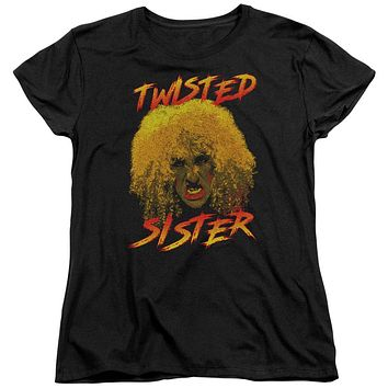 Twisted Sister Womens T-Shirt Dee Snider Black Tee