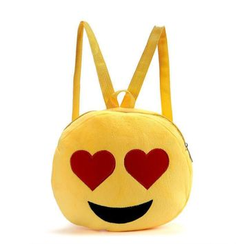 Womens Backpack Cute Emoji Emoticon Child School Bag Backpack Satchel Rucksack Women Shoulder Bag mochila feminina #YHYW