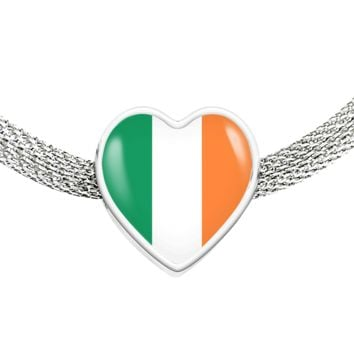 Irish Pride - Luxury Heart Charm Bracelet
