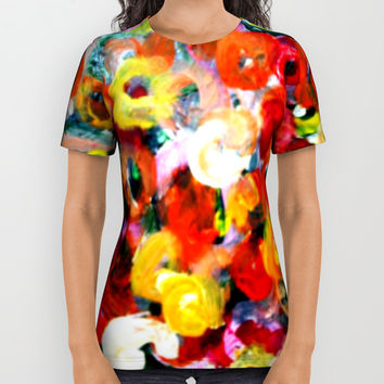 Aboriginal Art - Finger Painting All Over Print Shirt by Chris' Landscape Images & Designs