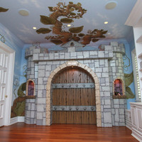 Pastoral Beanstalk Mural and Castle Gate