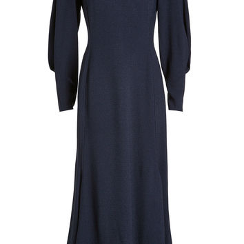 Draped Sleeve Asymmetric Midi Dress - Victoria Beckham | WOMEN | KR STYLEBOP.COM
