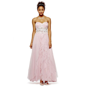 Roberta Strapless Applique Ball Gown - JCPenney