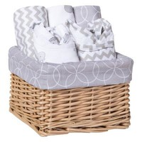 Safari Gray 7 Piece Feeding Basket Gift Set