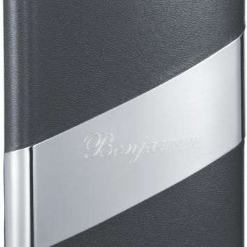 Visol Descent Black Leather 8-oz. Groomsmen Flask - Free Engraving