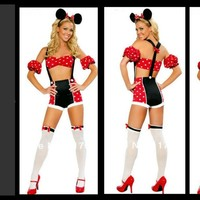SASSY SEXY MINNIE MOUSE HALLOWEEN COSTUME