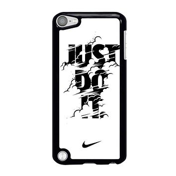 NIKE LOGO JUST DO IT GLITCH BLACK iPod Touch 5 Case
