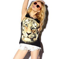 Tiger Graphic Muscle Tee
