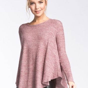 All about the Comfort Top - Burgundy