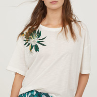H&M T-shirt with Embroidery $17.99
