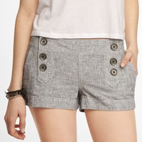 2 INCH LINEN BLEND SAILOR SHORTS