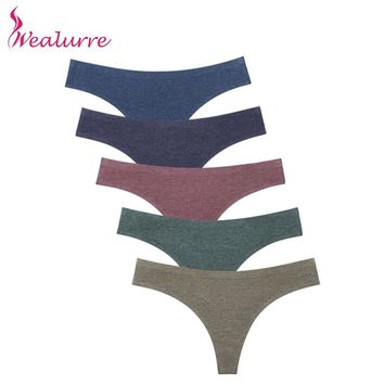 a7b1331624a Wealurre Ladies Sexi Low Waist Tanga Female Invisible Underwear