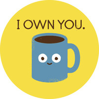 David Olenick Coffee Talk Adhesive Print