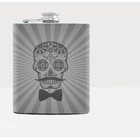 Skull hip flask - Gift for him - Hip flask - Gift for men - Hip flasks - Gray