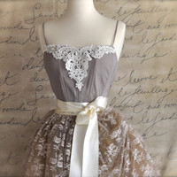 Sale Ballerina Venice Lace bodice in taupe Ballet of by TutusChic