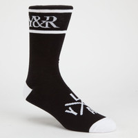 Young & Reckless Trademark Mens Socks Black/White One Size For Men 25954512501