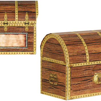 Pirate Treasure Chest Favor Boxes Case Pack 12