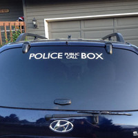 """24"""" Doctor Who Inspired TARDIS Decal"""
