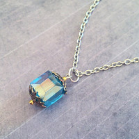 Unlimited Power Tesseract Necklace - Superhero Jewelry - Avenger Jewelry - Tesseract Inspired Jewelry - Fandom Jewelry - Cosmic Cube Jewelry
