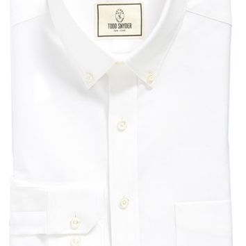 Todd Snyder White Label Trim Fit Solid Dress Shirt,