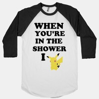 When You're In The Shower I Pikachu | HUMAN