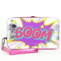 Cell Phone Wallet with Pop Art Graphics