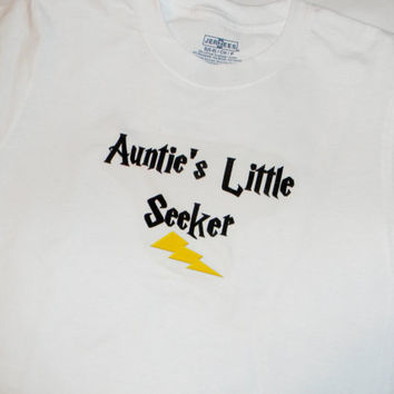 Auntie's Little Seeker Kids T-Shirt. Harry Potter Inspired. Can Be Customized By Size.