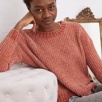 Aerie Chenille Sweater, Deep Burgundy