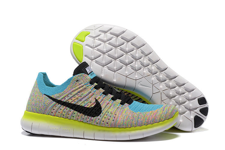 Nike free RN flynit running sneakers Sport Casual Shoes Sneakers Blue-yellow 070c3943d