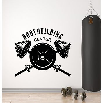 Vinyl Wall Decal Bodybuilding Center Athletic Fitness Club Sport Stickers Mural (g2506)