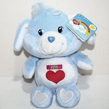 "Licensed cool 2002 8"" LOYAL HEART DOG Care Bears Cousins Plush Bean Bag Toy 20th Anniversary"